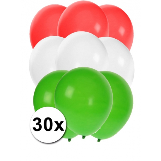 30x ballonnen in Hongaarse kleuren