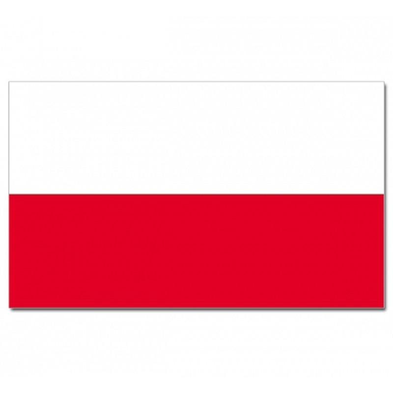 Landen vlaggen van Polen met wapen