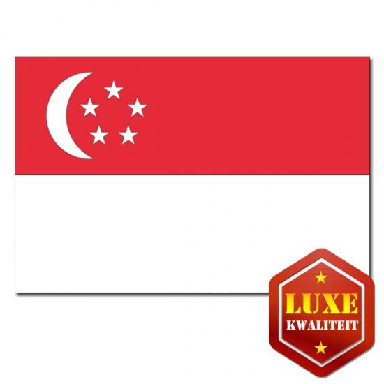 Landen vlaggen van Singapore