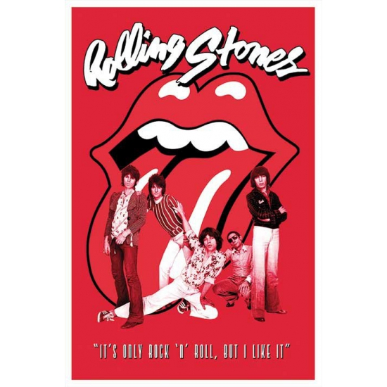 Poster Rolling Stones band 61 x 91,5 cm