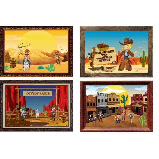 Western thema muurdecoratie set