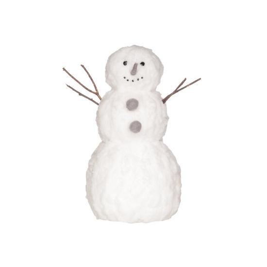 Winterdecoratie sneeuwpop 42cm