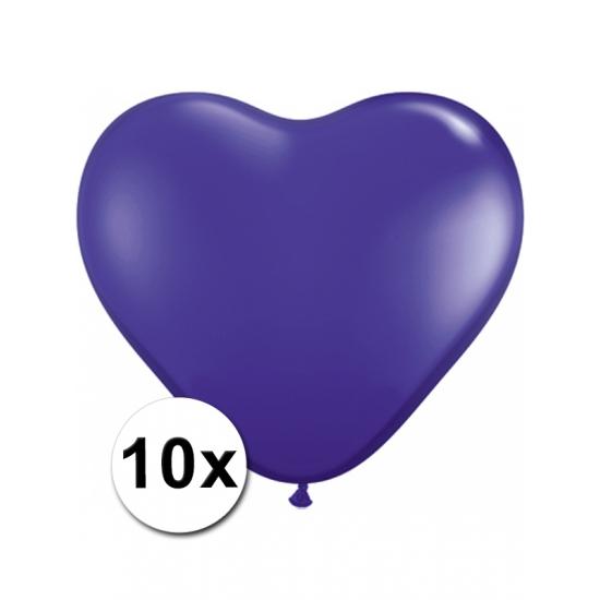 10 Paarse harten ballonnen 15 cm Shoppartners Het leukste