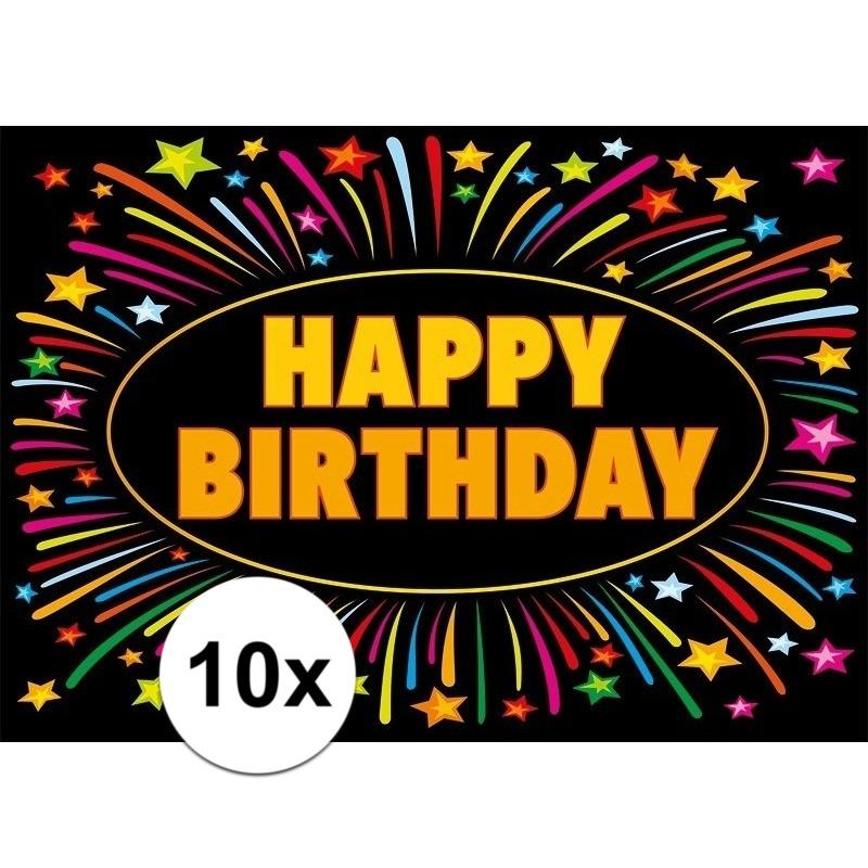 10x Verjaardag wenskaart Happy Birthday