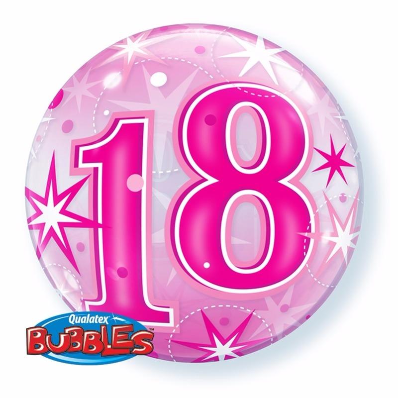 Feestartikelen diversen Qualatex 18 jaar feest folie ballon gevuld met helium