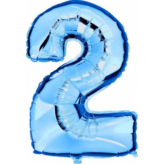 Leeftijd feestartikelen 2 jaar geworden cijfer ballon