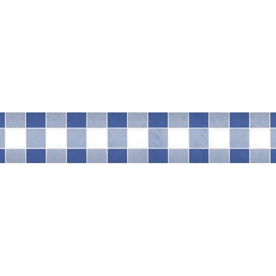 2xBlauw/wit ruitjes papieren tafellaken/tafelkleed 1000 x 118 cm