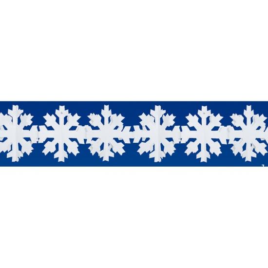 Feestartikelen diversen Bierfeest artikelen 3 meter lange papieren sneeuwvlok slinger