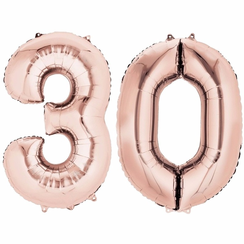 30 jaar geworden cijfer ballon rose goud Geen Leeftijd feestartikelen