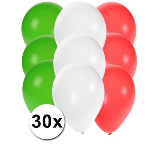€1510000 Sparen Fun Feest party gadgets 30x ballonnen in Italiaanse kleuren