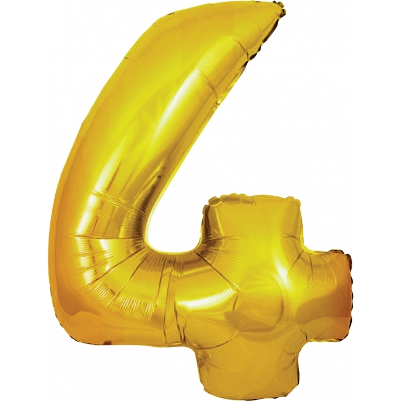 Leeftijd feestartikelen 4 jaar geworden cijfer ballon