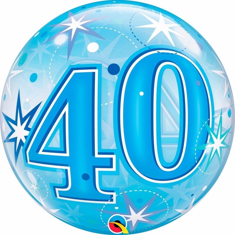 Feestartikelen diversen Qualatex 40 jaar feest folie ballon gevuld met helium