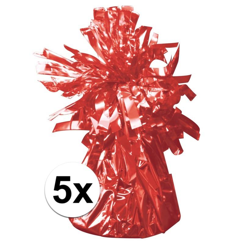 Aanbieding 45% Korting 5 Ballongewichten rood 170 gr
