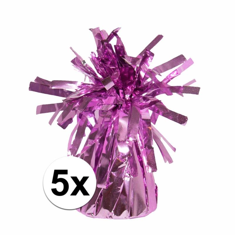 5 Ballongewichten roze 170 gr Geen Feestartikelen diversen