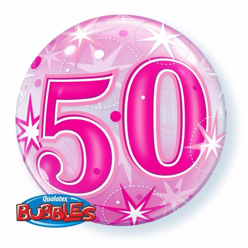 Qualatex 50 jaar feest folie ballon gevuld met helium Feestartikelen diversen