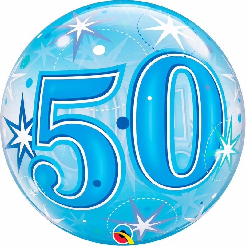 50 jaar feest folie ballon gevuld met helium Qualatex Feestartikelen diversen