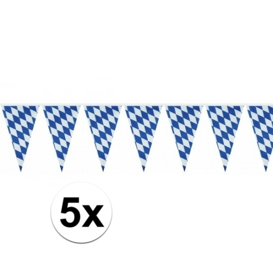 5x Beieren vlaggenlijn Oktoberfest 10 m
