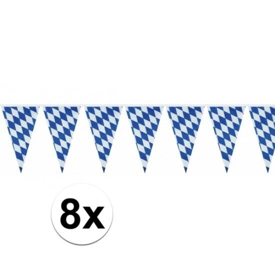 8x Beieren vlaggenlijn Oktoberfest 10 m