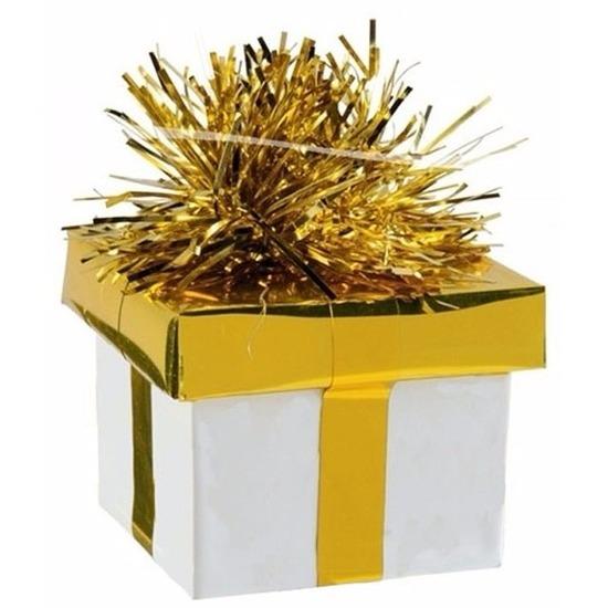 Feestartikelen diversen Geen Ballon gewicht cadeau goud zilver 175 gr