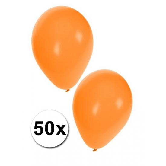 Shoppartners Ballonnen oranje 50 stuks Feestartikelen diversen