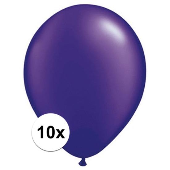 Qualatex Ballonnen qualatex parel paars 10 stuks Feestartikelen diversen