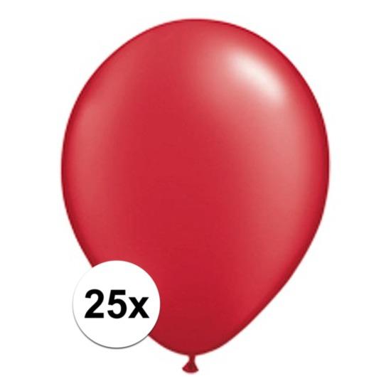 Qualatex Ballonnen qualatex Ruby rood 25 stuks Feestartikelen diversen
