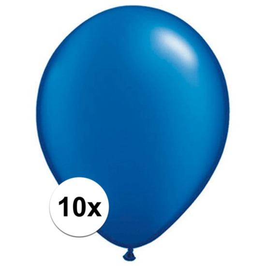 Ballonnen qualatex Sapphire blauw 10 stuks Qualatex Feestartikelen diversen