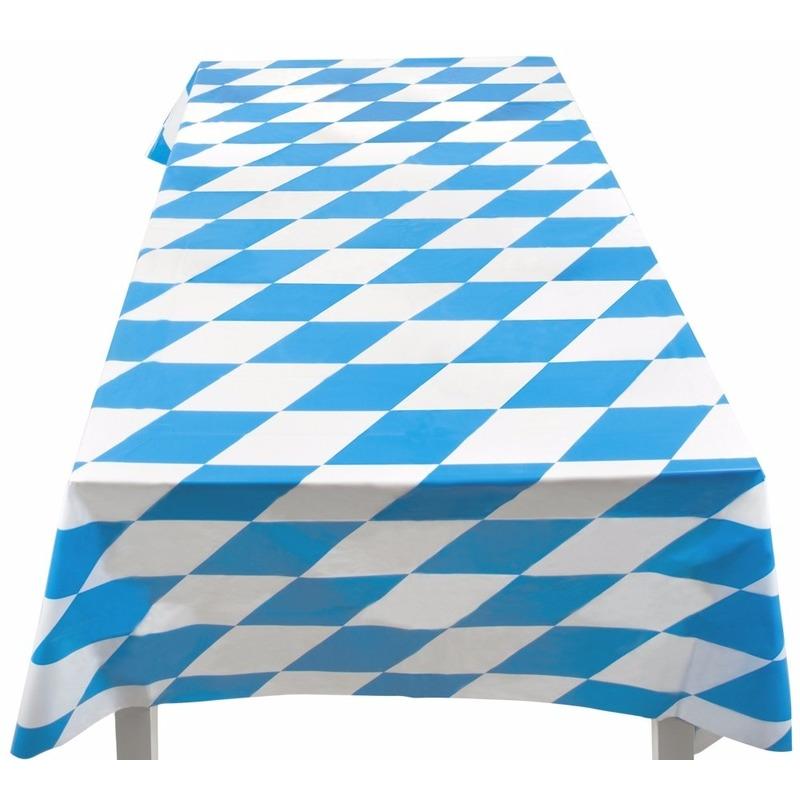 Thema feestartikelen Bierfeest artikelen Beieren kleuren tafelkleed 130 x 180 cm