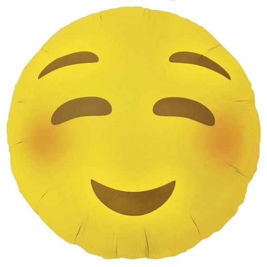 Feestartikelen diversen Bierfeest artikelen Blozende emoticon folie ballon 46 cm