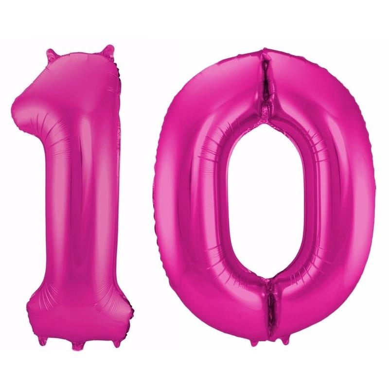 Cijfer ballonnen 10 jaar 86 cm Geen laagste prijs