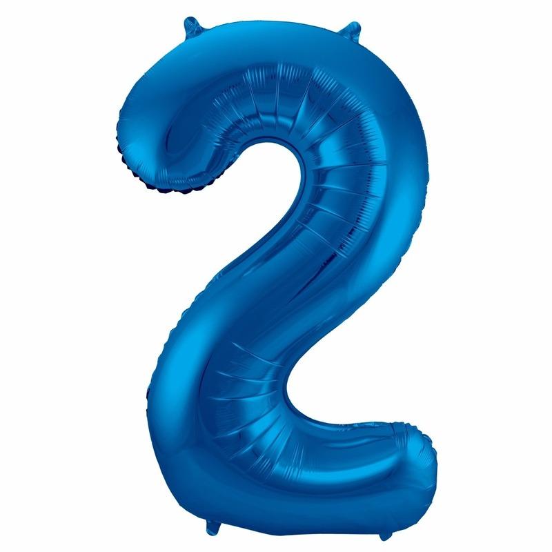 Leeftijd feestartikelen Bierfeest artikelen Cijfer ballonnen 2 jaar 86 cm
