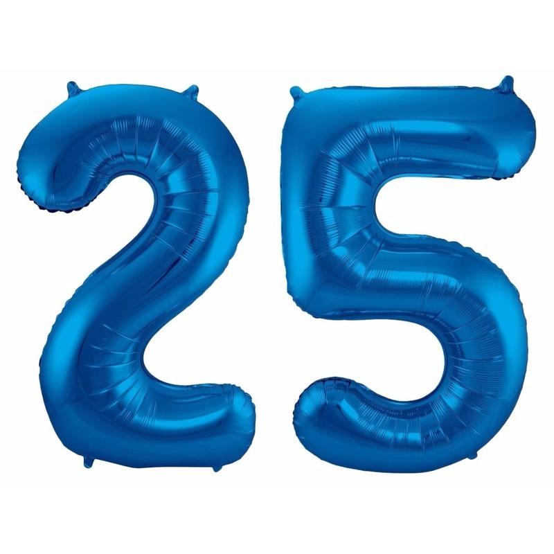 Cijfer ballonnen 25 jaar 86 cm Bierfeest artikelen Beste koop