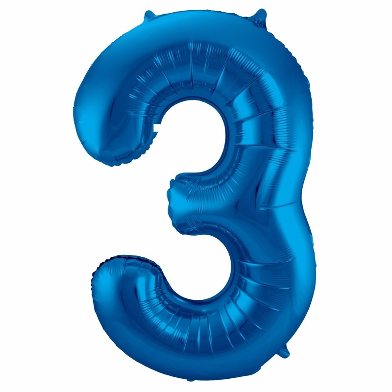 Cijfer ballonnen 3 jaar 86 cm Bierfeest artikelen Beste koop