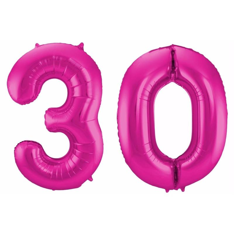 Geen Cijfer ballonnen 30 jaar 86 cm Leeftijd feestartikelen