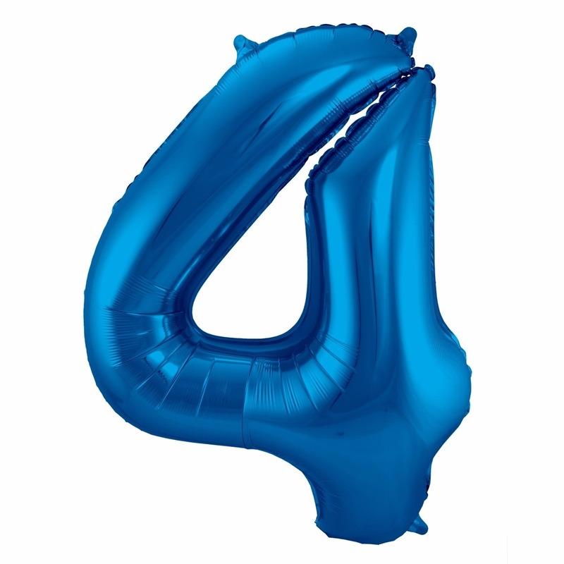Leeftijd feestartikelen Cijfer ballonnen 4 jaar 86 cm