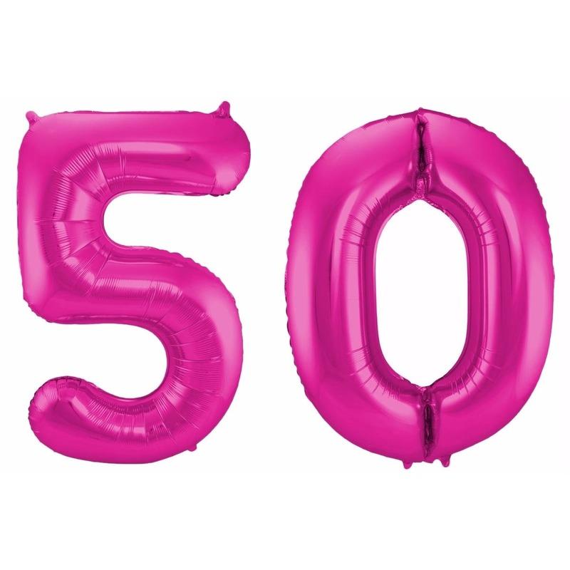 Leeftijd feestartikelen Geen Cijfer ballonnen 50 jaar 86 cm