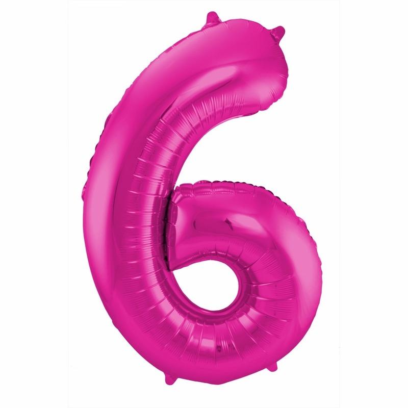 Leeftijd feestartikelen Geen Cijfer ballonnen 6 jaar 86 cm