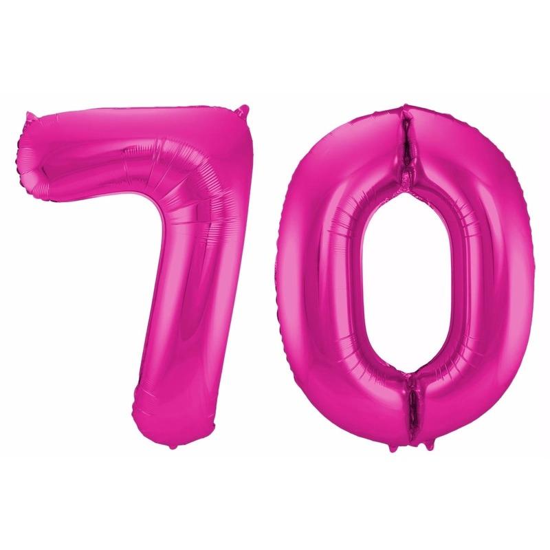 Leeftijd feestartikelen Geen Cijfer ballonnen 70 jaar 86 cm