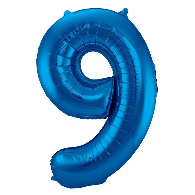 Leeftijd feestartikelen Bierfeest artikelen Cijfer ballonnen 9 jaar 86 cm