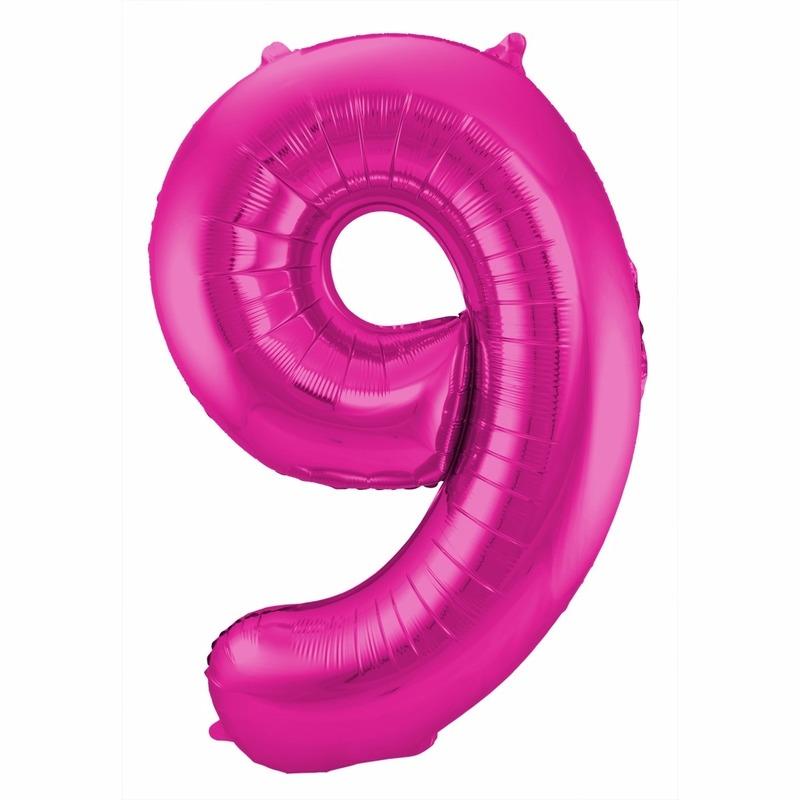 Geen Cijfer ballonnen 9 jaar 86 cm Leeftijd feestartikelen