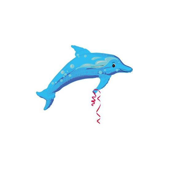 Feestartikelen diversen Bierfeest artikelen Dieren ballon dolfijn met helium