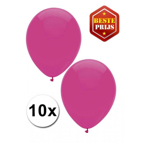 Donkerroze ballonnetjes 10 stuks