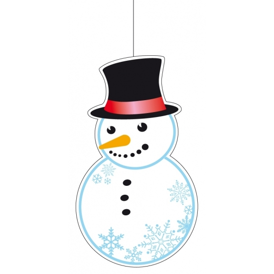 Feest sneeuwpop decoratie 41 cm etalage versiering