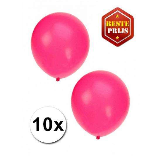 Feestartikelen diversen Shoppartners Fluor roze ballonnetjes 10 stuks