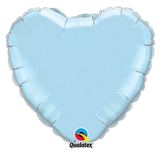 Feestartikelen diversen Bierfeest artikelen Folie ballon blauw hart 45 cm