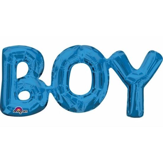 Feestartikelen diversen Folie ballon Boy blauw 55 cm