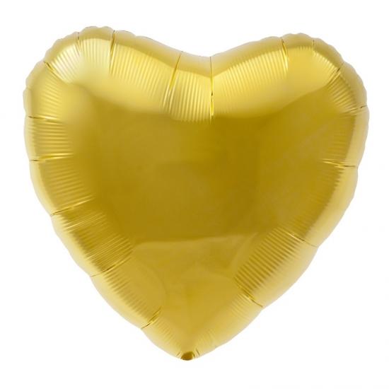 Folie ballon goud hart 45 cm Bierfeest artikelen Feestartikelen diversen