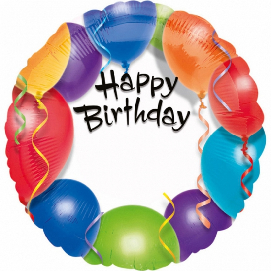 Anagram Folie ballon Happy Birthday 45 cm Feestartikelen diversen