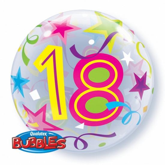 Feestartikelen diversen Qualatex Folie ballon met helium 18 jaar