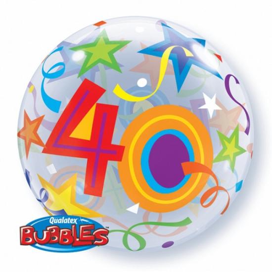 Feestartikelen diversen Qualatex Folie ballon met helium 40 jaar